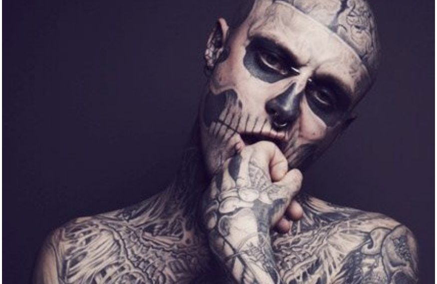 Heavily Tattooed Zombie Boy From Lady Gagas Born This Way Music