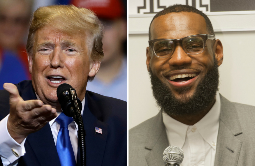 389c43a230f8 Trump Goes After LeBron James in Twitter Snipe