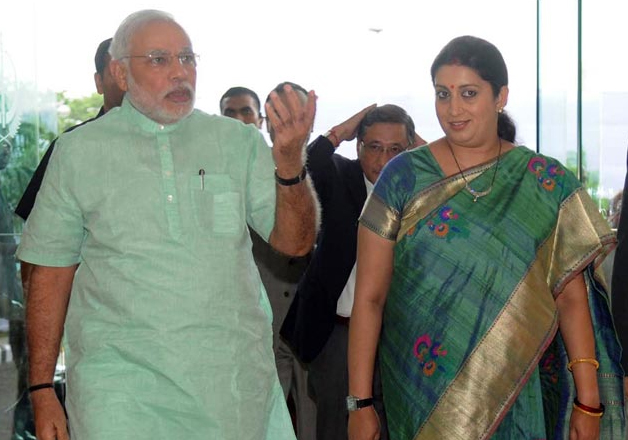 Image result for Smriti Irani to thank Prime Minister Modi and Amit Shah